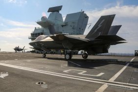 UK's HMS Queen Elizabeth aircraft carrier pictured in South China Sea
