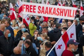 A record demonstration in support of Saakashvili gathered in the Georgian capital