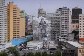 Бразильский художник создал необычный мурал